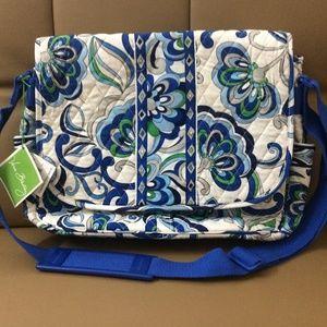 NWT Vera Bradley Messenger Bag Mediterranean White